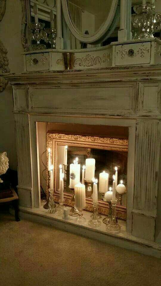 Oooh For A Master Bedroom Put Up A Faux Fireplace Arrange A Decorative Mirror In The Back