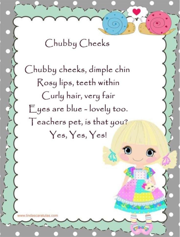 cheeks rhyme Chubby