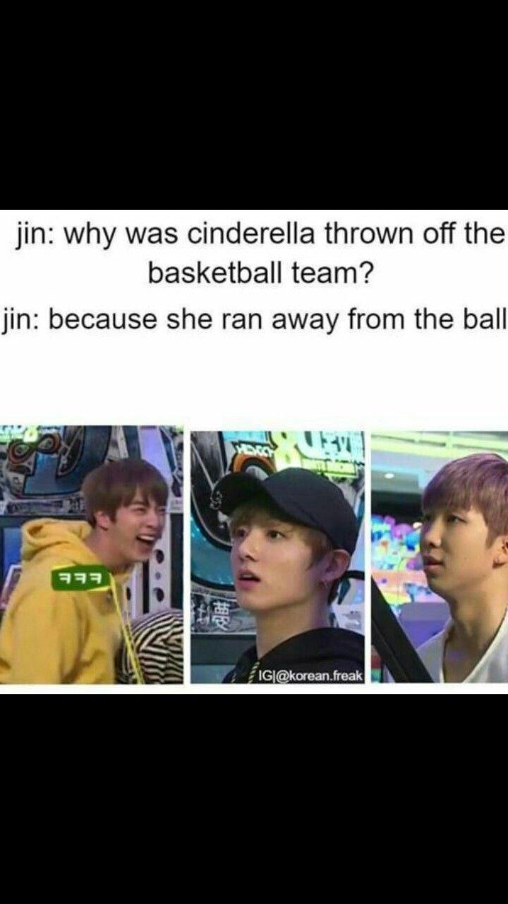 Dad's Jin jokes lol wow. That's pretty bad. Yet I'm still laughing ha ha BTS