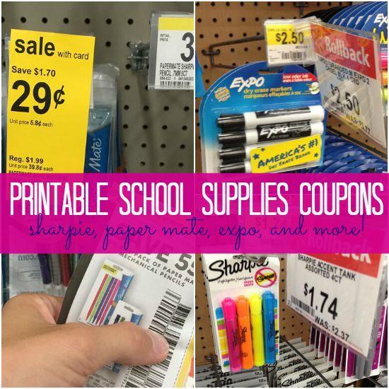 Printable School Supplies Coupons