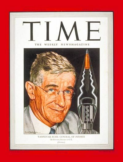 TIME Magazine Cover: Dr. Vannevar Bush - Apr. 3, 1944 - Health & Medicine