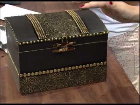 ▶ Mini Baú com papel textura - Passo a Passo 02/02 - YouTube