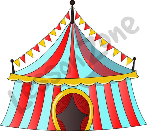 Bring the cricus to your classroom with this colourful tent illustration. Available in PNG format at 300 DPI resolution with a transparent background for classroom use. This illustration is also available in black and white.   To download, visit lessonzone.com.au