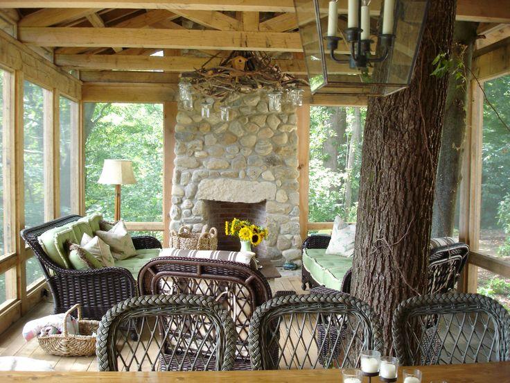 Farmhouse rustic fireplace
