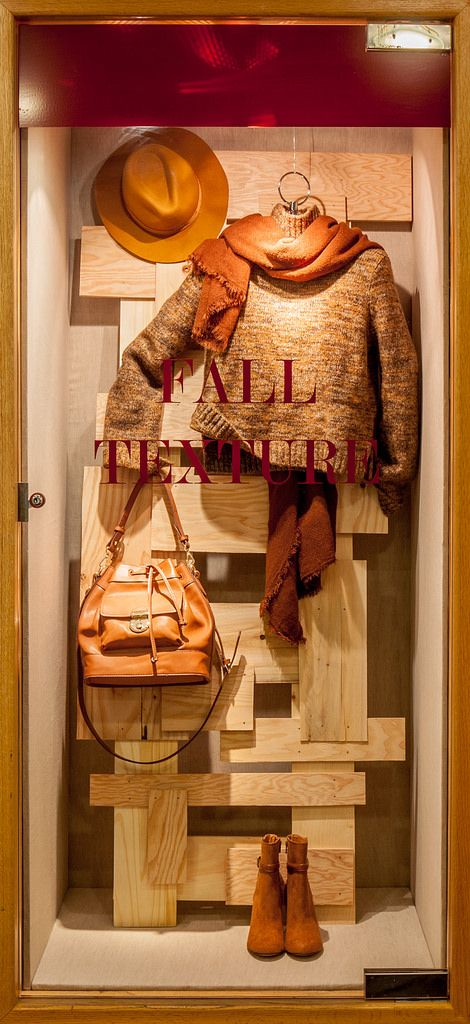 https://flic.kr/p/yyGF4g | Visual Merchandising Arts - Fall Windows 2015. Seneca College Visual merchandising. Retail store display. Fall. Winter