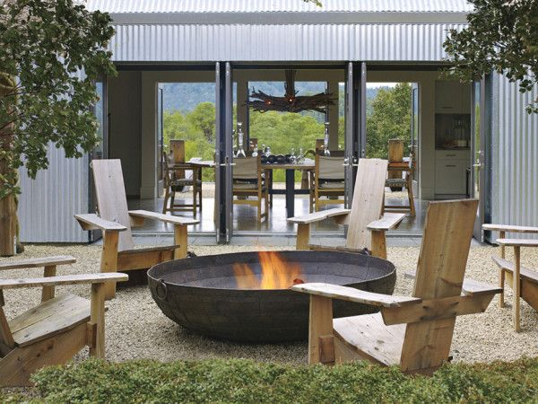 Napa Weekend House Outdoor fire by Erin Martin