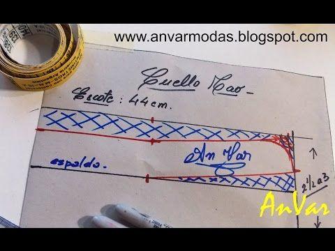 AnVar - Te enseño a coser: CUELLO MAO - Trazo