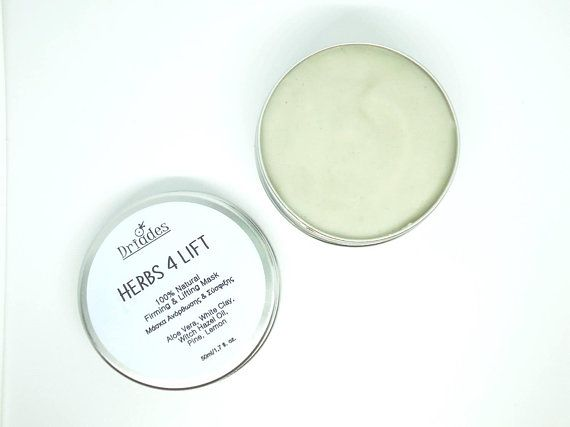 Skin tightening and firming face mask. With kaolin clay, aloe vera and herbal ingredients. All natural anti-aging face mask, anti-wrinkle mud mask, natural vegan face mask Freshly #handmade by #Driades #naturalskincare #skintight #skinfirming #veganbeauty #antiaging #wrinkles #naturalremedies #claymask #exfoliatingmask #acne #blackheads #agespots #darkspots #liverspots