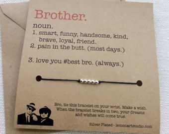 Brother Gift For Brother Bracelet For Brother Gifts Brother Jewelry Bracelet Brother Birthday Gift 4 Brother Wish Bracelet