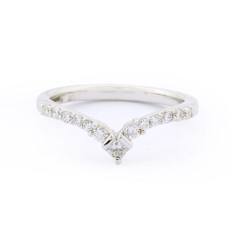 White Gold Diamond Wishbone Eternity Ring