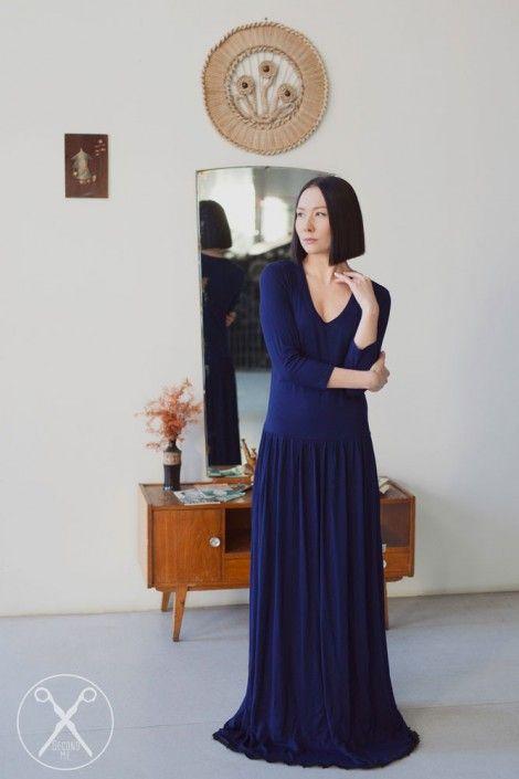 Dark Blue Romantic Maxi Long Dress  | A/W 15/16 | Second ME | www.secondme.eu