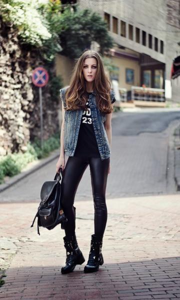 Look Rocker: Colete Jeans