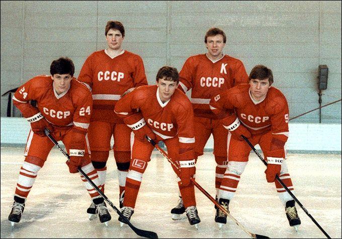 Vladimir Krutov - Igor Larionov - Sergei Makarov - Alexei Kasatonov - Viacheslav Fetisov