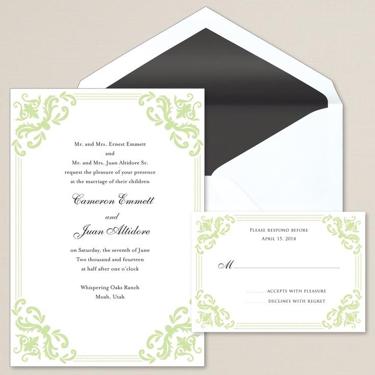 Victorious Love Wedding Invitation | #exclusivelyweddings | #limegreenwedding
