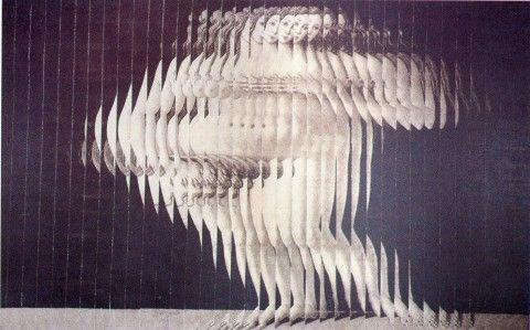 Jiří Kolář: Venuše (Boticelli), 1968-1969, roláž na mušelínu, 100 x 160 cm, Museum Kampa - Nadace Jana a Medy Mládkových