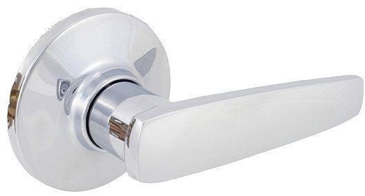 EZ-Set 515-MH Single Dummy Door Lever from the Manhattan Series Polished Chrome Leverset Single Dummy