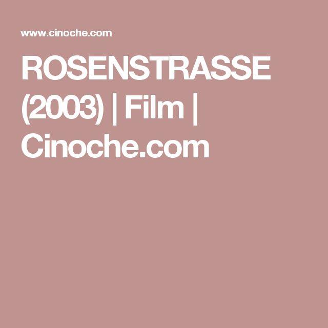 ROSENSTRASSE (2003) | Film | Cinoche.com