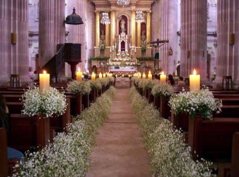 Resultado de imagen para decoracion de la iglesia para boda moderna