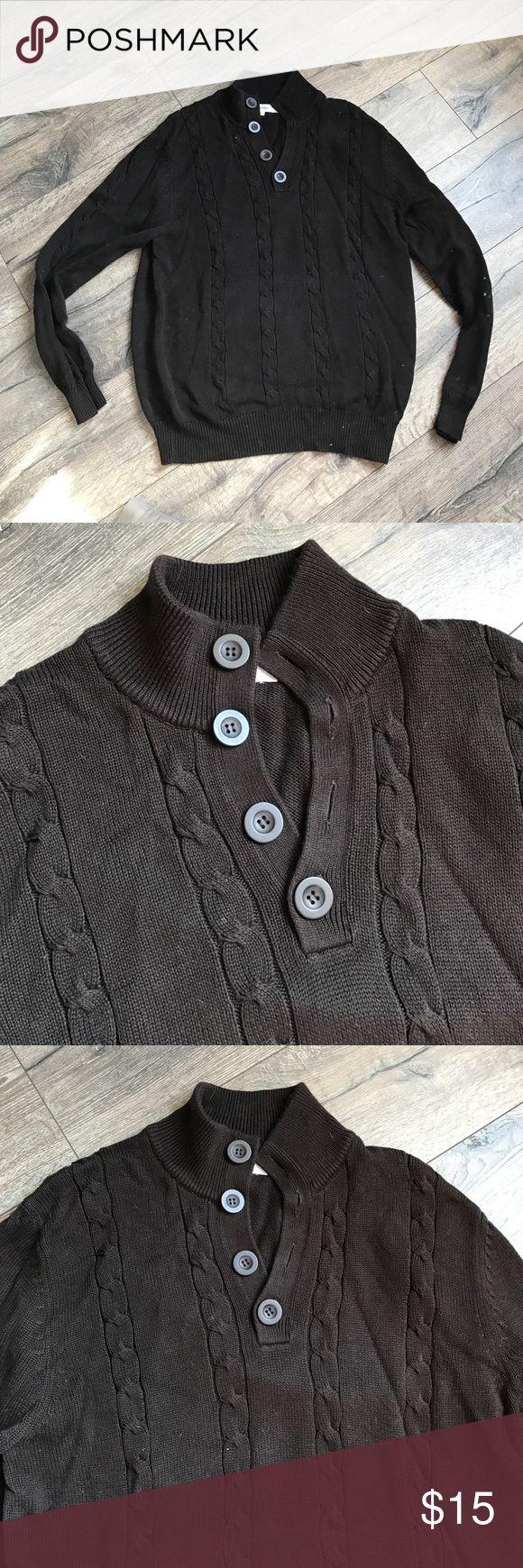 Men's brown Calvin Klein sweater Excellent condition only worn twice.  Calvin Klein men's sweater. Calvin Klein Sweaters