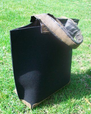 Eco Friendly Bag with Industrial Felt and Recycled Leather