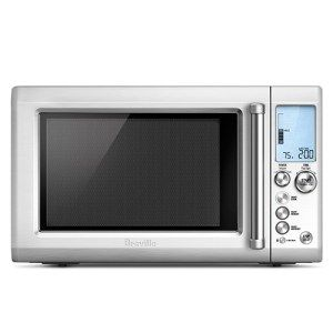 Breville BM0734XL Quick Touch Microwave Oven:  For every guy/gal who is impatient and never truly knows how much time he/she should set; this oven's for you. Add 30 seconds to the timer by a single touch, adjust the power level through a dedicated dial and allow the sensors built within the oven to work out the cooking time for you.