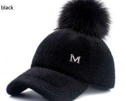 4332e7e7d Huňatá zimná dámska šiltovka s brmbolcom vo viacerých farbách0 Kvalitné dámske  čiapky a klobúky, zimné