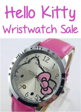 Hello Kitty Watch Sale: $4.00 + FREE Shipping! #watches #hellokitty #thefrugalgirls