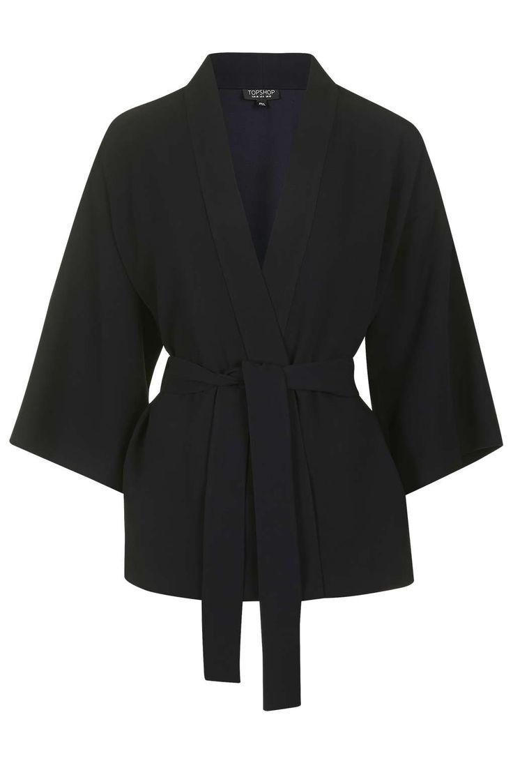 Belted Kimono Jacket - Topshop