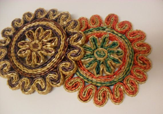 Awesome 2 Trivets  Southwestern Decor Colors by InVintageFashion, $8.50