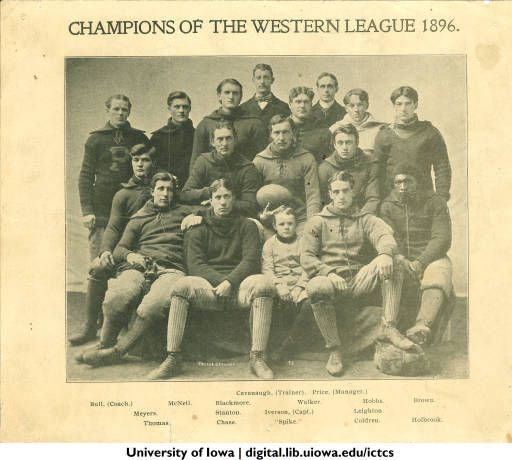 """""""Champions of the western league,"""" The University of Iowa, 1896 :: Iowa City Town and Campus Scenes"""