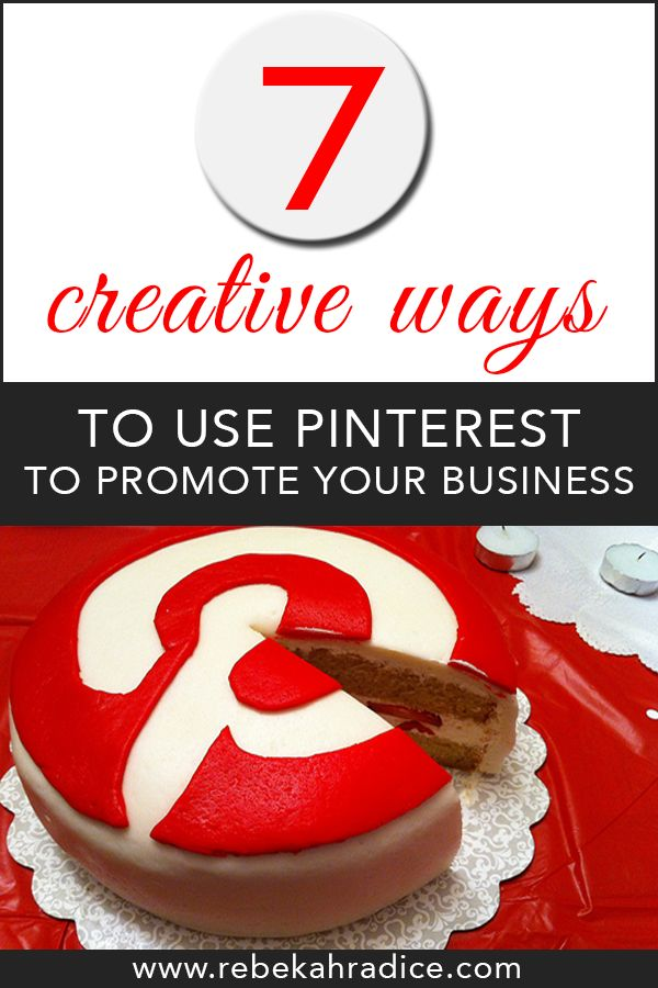 7 Creative Ways To Use Pinterest To Cross-Promote Your Business #socialmedia #pinterest