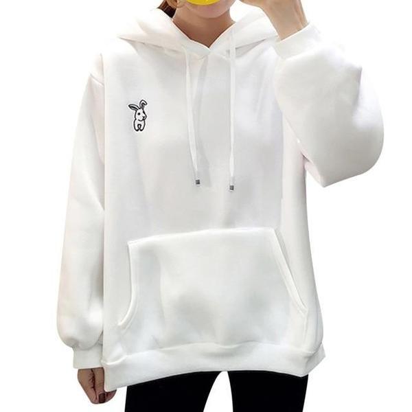 Benlet Women Autumn Casual Sweatshirt Print Long Sleeve Hooded Drawstring Pullover Fashion Hoodies