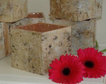 scatole di legno legno vasi nozze piazza fiore vaso di LadyBirch