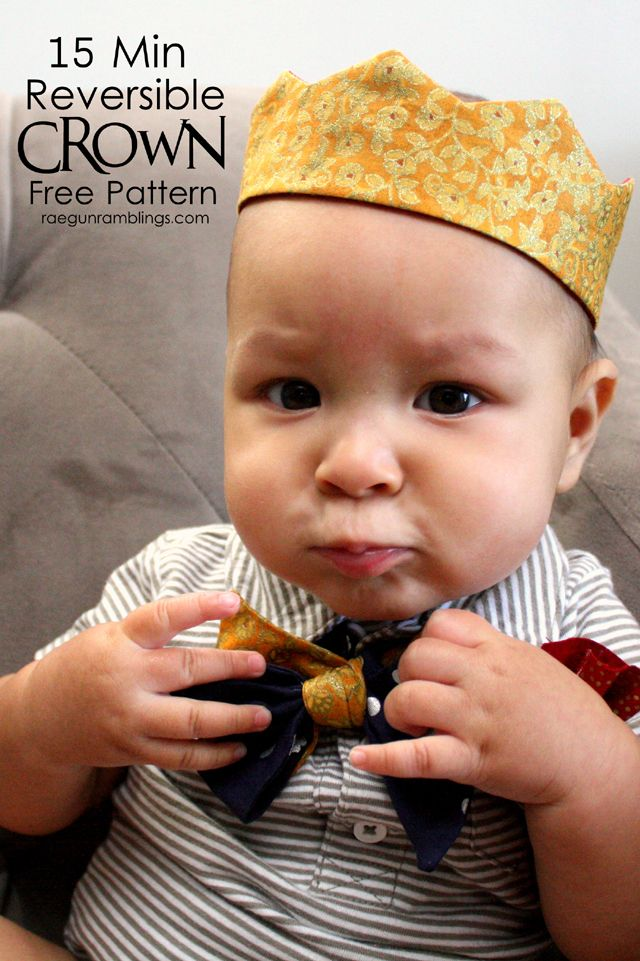 Free Crown Pattern. Fits baby to adult heads - Pattern available from RaeGunRamblings.com #costume #sewyourstyle #halloween