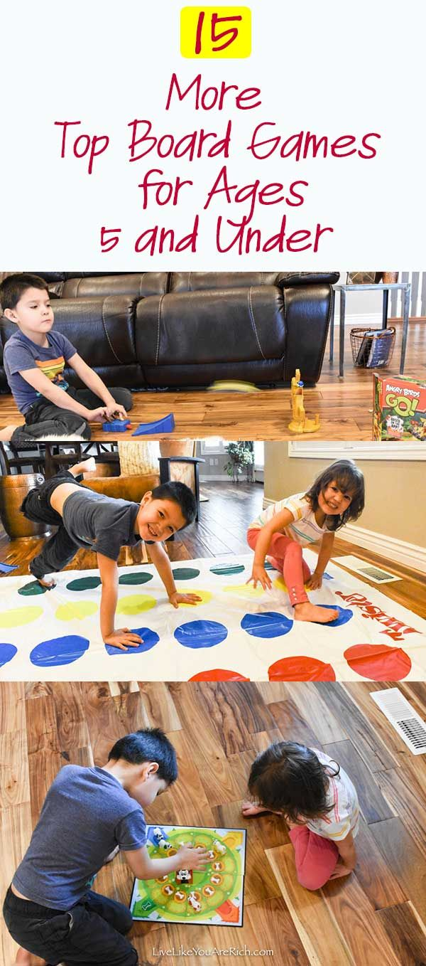 15 More Top Board Games for 5 and Under. #livelikeyouarerich #boardgames #kidsactivities