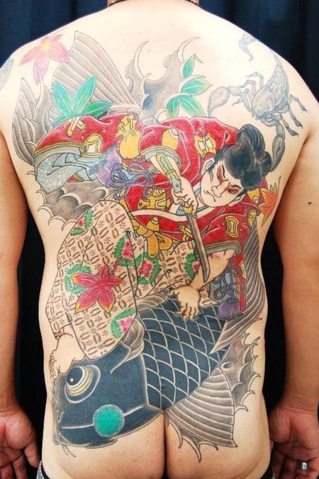 Horishin - Japanese Tebori Tattoo Backpiece