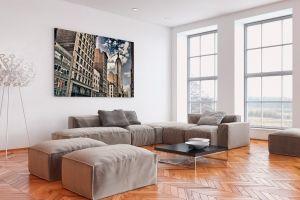 Ambientazione con stampa ad alta definizione su tela canvas.