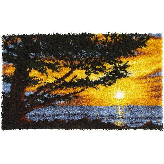 Caron Wonderart Latch Hook Kit Monterey Sunset Hooks And