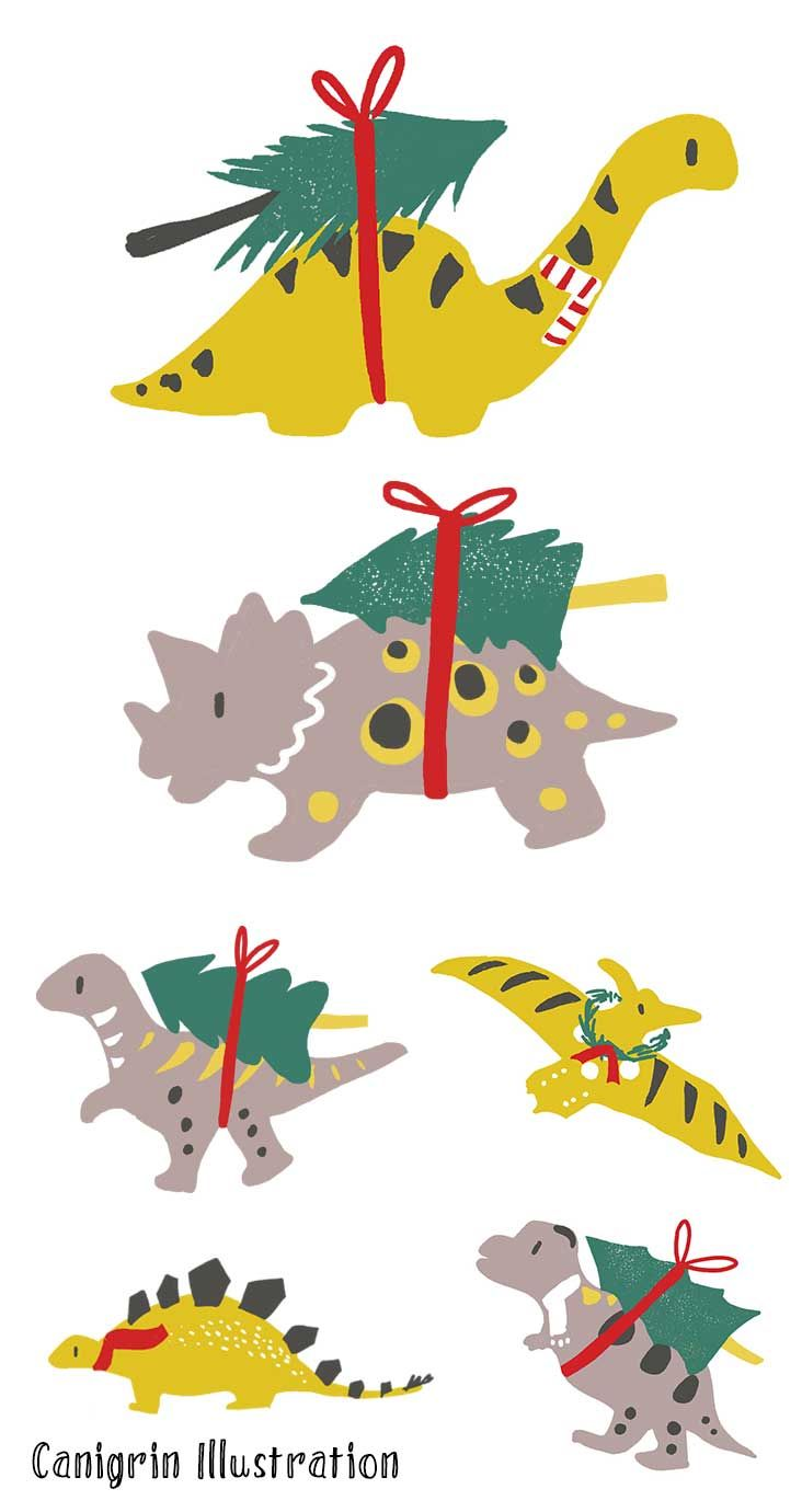 Dinosaur Christmas.Dinosaur Christmas Tree Dino Art Holiday Ornament