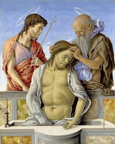 [Renaissance] The Dead Christ Supported By Saints  Marco Zoppo