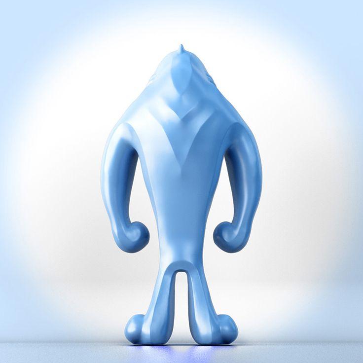 My designer toy character Bloü …