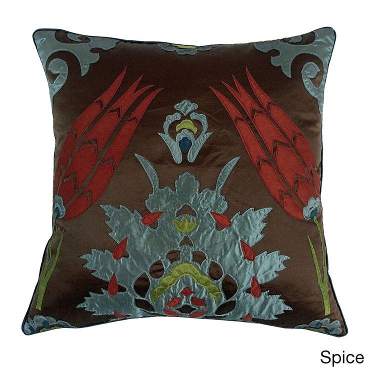 Moroccan Tile 20x20 Decorative Throw Pillow (20x20 Moraccan Tile - Spice), Brown, Size 20 x 20 (Polyester, Applique)
