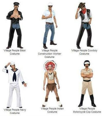New Adult Official Village People Halloween Costume / Choose from All 6 Village People