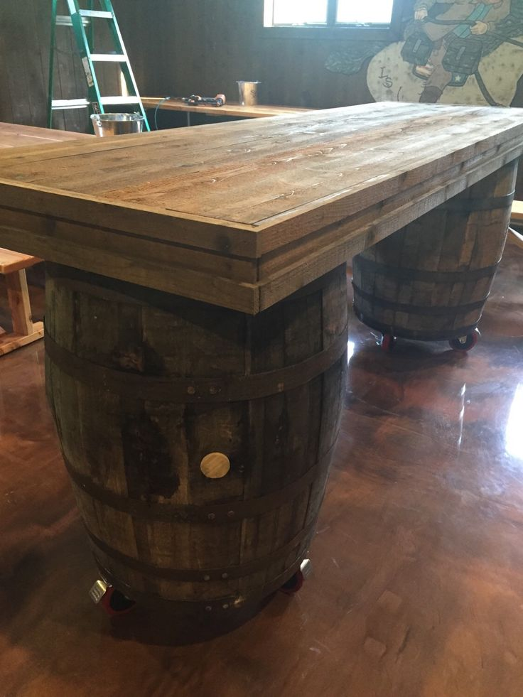 This Authentic Bourbon Barrel Table Is A Perfect For Your