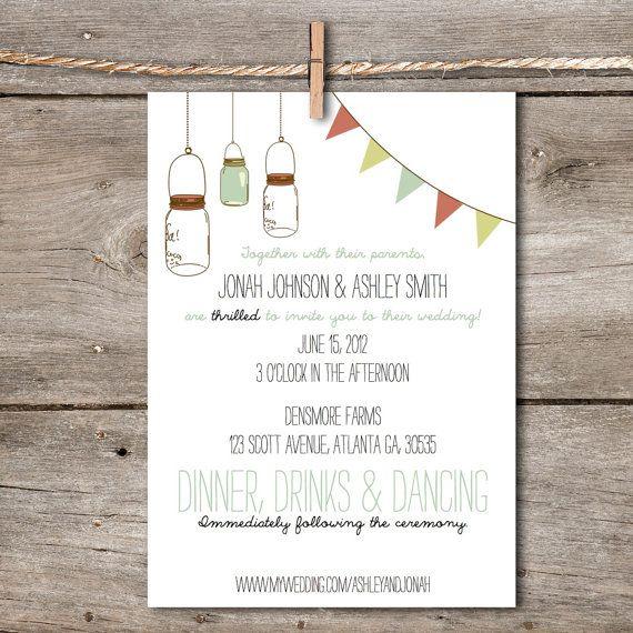 Printable Wedding Invitation Rustic Vintage by TheArtOfBeingYou, $70.00