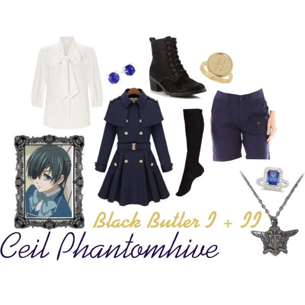 Ceil Phantomhive - Black Butler by breathe-think-dream on Polyvore featuring Somerset by Alice Temperley, Lee, Falke, Call it SPRING,…