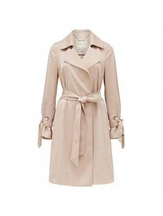 Jolet soft silky trench coat Back Image