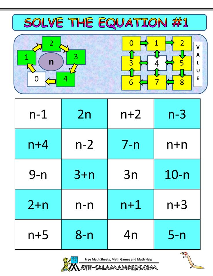 math algebra games solve the equation 1