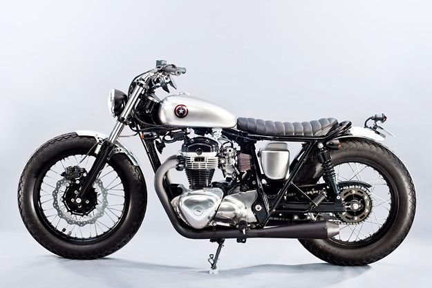 Kawasaki W650 by Max Power,- really neat version of ubiquitous W650 brat. Near perfect proportions and superb detaling.