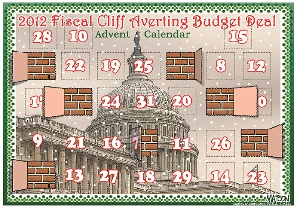 Fiscal Cliff Averting Budget Deal Advent Calendar